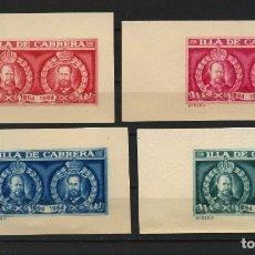 Sellos: VIÑETAS CONMEMORATIVAS, PRUEBAS, ILLA DE CABRERA, 1894, 1964, ISLAS BALEARES. Lote 204277231