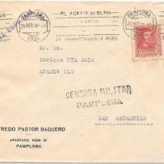 Francobolli: CRUZADA CONTRA EL FRIO. NAVARRA. SOBRE CIRCULADO DE PAMPLONA A SAN SEBASTIAN. 1938. Lote 204430952
