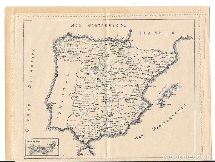 Sellos: GUERRA CIVIL. SOBRE ILUSTRADO GENERAL FRANCO, MONUMENTOS Y MAPA DE ESPAÑA SIN CIRCULAR - Foto 3 - 204435343