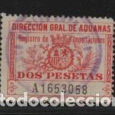 Sellos: DIRECCION GENERAL DE ADUANAS.- 2 PTAS- VER FOTO. Lote 204476357