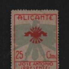 Timbres: ALICANTE- 25 CTS.-JOSE ANTONIO PRESENTE- VER FOTO. Lote 204477515
