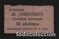 COM. PROVINCIAL- 10 CTS.- SUBSIDIO AL COMBATIENTE.- VER FOTO (Sellos - España - Guerra Civil - De 1.936 a 1.939 - Usados)