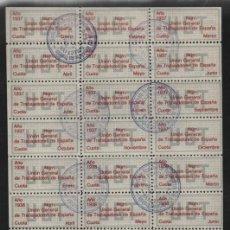 Sellos: U.G.T. 12 CUOTAS DE ENERO A DICIEBRE AÑO 1937 PARTE ALTA Y 12 CUOTAS AÑO1938 EN PARTE BAJA. VER FOT. Lote 204478433