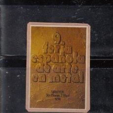 Selos: 9 FERIA ESPAÑOLA DE ARTE EN METAL.VALENCIA. Lote 204609570
