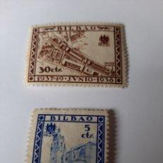 Sellos: BILBAO 1937.19.JUNIO.1938 30 CTS Y 5 CTS NUEVO. Lote 204679925