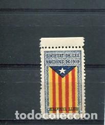ESTELADA EN SEGELL DE L ANY 1919 ESTAT CATALA CATALUNYA LLIURE VINYETA CATALANISTA INDEPENDENTISTA (Sellos - España - Guerra Civil - Viñetas - Nuevos)