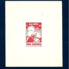 Sellos: V1-10 GUERRA CIVIL ALIÑA (LERIDA) PRO GUERRA FESOFI Nº 4-5 VALOR 5 Y 10 CTS. SERIE COMPLETA SIN FI. Lote 205123575