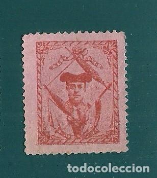 VN2-41-16 VIÑETA DE FINALES AÑOS 1890S DEL TORERO EMILIO TORRES (BOMBITA) COLOR ROJO S. PAPEL ROS (Sellos - España - Guerra Civil - Viñetas - Nuevos)