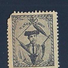 Sellos: VN2-43-5 VIÑETA DE FINALES AÑOS 1890S DEL TORERO GUERRA GUERRITA COLOR NEGROS. PAPEL BLANCO. Lote 205232006