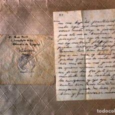 Sellos: VALENCIA A GUALBA CARTA CIRCULADA JULIO DE 1938 CON RARA MARCA C.P. DE LA GENERALITAT DE. VALENCIA. Lote 205308931