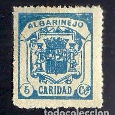 Sellos: V1-1 GUERRA CIVIL ALGARINEJO(GRANADA) CARIDAD FESOFI Nº 5 PAPEL GRIS VALOR 5 CTS COLOR AZUL CLARO. Lote 205311942
