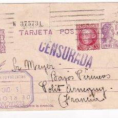 """Sellos: MADRID A ARNEGUY (FRANCIA) MARCA """"DESTACAMENTOS DE REQUETES FRONTERA DE VALCARLOS 1936 NAVARRA. Lote 205318372"""