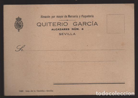 POSTAL PRIVADA COMERCIAL- QUITERIO GARCIA- VER FOTOS (Sellos - España - Guerra Civil - Locales - Cartas)