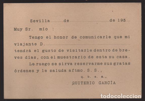 Sellos: POSTAL PRIVADA COMERCIAL- QUITERIO GARCIA- VER FOTOS - Foto 2 - 205432458