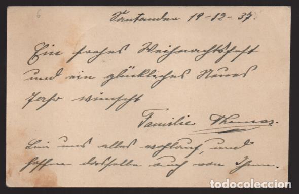 Sellos: POSTAL CIRCULADA DE SANTANDER A ALEMANIA- C.M. SANTANDER- 19-12-37. VER FOTOS - Foto 2 - 205433901
