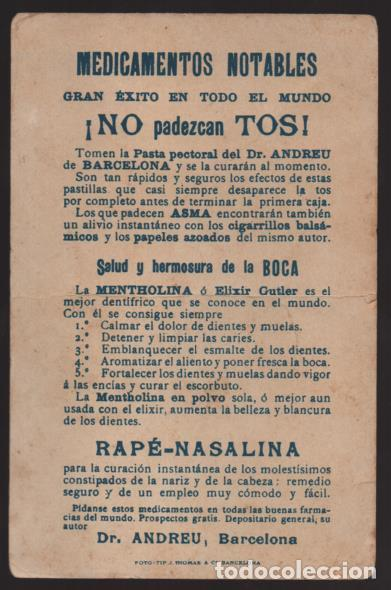 Sellos: BARCELONA.-POSTAL PUBLICITARIA Dr. ANDREU- Y GENERALES CELEBRES- VER FOTOSVER FTOS - Foto 2 - 205434603