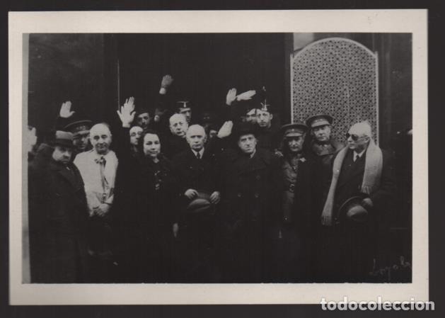 POSTAL JULIAN LOYOLA.- MANISFESTACION, D.FEDEL GARCIA,SRA. BENLOC Y SR. JORDAN DE URROIES- VER FOTOS (Sellos - España - Guerra Civil - Locales - Cartas)