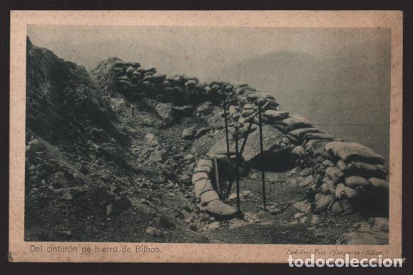 BILBAO-MUSEO GUERRA- DEL CINTURON DE HIERRO,-PEÑA LEMONA LUGAR ENCARNIZADOS COMBATES- SERIE,II,.Nº 1 (Sellos - España - Guerra Civil - Locales - Cartas)
