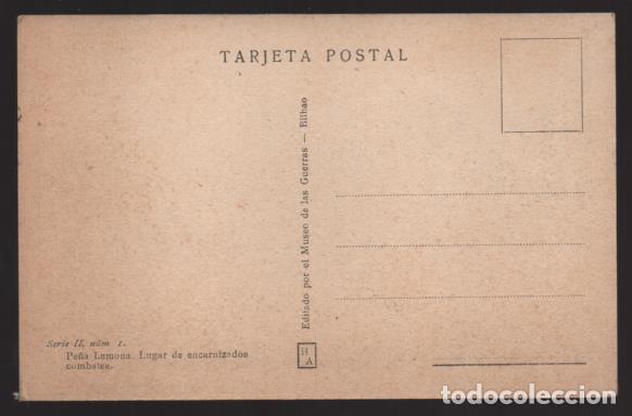 Sellos: BILBAO-MUSEO GUERRA- DEL CINTURON DE HIERRO,-PEÑA LEMONA LUGAR ENCARNIZADOS COMBATES- SERIE,II,.Nº 1 - Foto 2 - 205436830