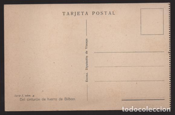 Sellos: BILBAO-MUSEO GUERRA- DEL CINTURON DE HIERRO,-REDUCTO Y NIDO AMETRALLADORA- SERIE,II,.Nº 4 - Foto 2 - 205437088