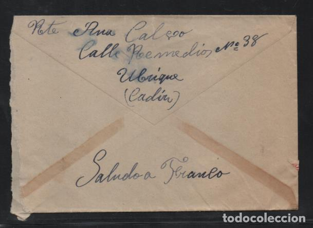 Sellos: CARTA DE UBRIQUE A ASTORGA, PRISION CENTRAL- C.M. UBRIQUE.- SELLO 30 CTS, BICEPTADO- VER FOTOS - Foto 2 - 205543508