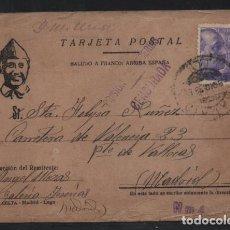 Sellos: MADRID. POSTAL -PRISION DE YESERIAS.- DOBLE C.M. MADRID Y PRISION- VER FOTOS. Lote 205544343