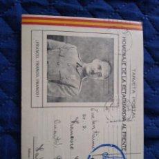 Sellos: TARJETA PATRIOTICA. CENSURA VIZCAYA ENVIADA FRANCO EN SALAMANCA 1937. Lote 205549087