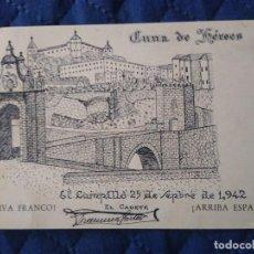 Sellos: FRENTE JUVENTUDES. FALANGES VOLUNTARIOS HUELVA. EL CAMPILLO. ENVIADA FRANCO. DIBUJO PATRIÓTICO.. Lote 205555523