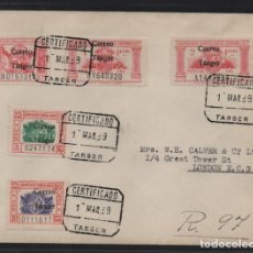 Sellos: TANGER.- A LONDRES- CARTA CON SERIE SOBRECARGA -CORREO TANGER- FECHADA 1 MARZO 1939.- VER FOTOS. Lote 205582543