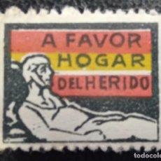 Sellos: VIÑETA. EDIFIL 28 A FAVOR HOGAR DEL HERIDO. Lote 205672727