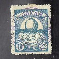 Sellos: V1-2 GUERRA CIVIL GRANADA ASOCICION GRANADINA FESOFI Nº 86 VALOR 10 CTS COLOR AZUL. Lote 205820711