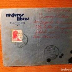 Sellos: SOBRE Y CARTA CIRCULADA DE MUJERES LIBRES DE ELDA ( ALICANTE ). Lote 205828480