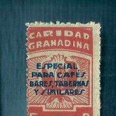 Sellos: V1-2 GUERRA CIVIL GRANADA CARIDAD GRANADINA FESOFI Nº 66 SOBRECARGA AZUL VALOR 5 CTS COLOR NARANJA. Lote 205829482