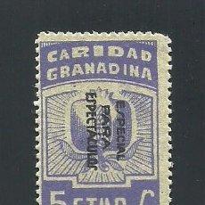 Sellos: V1-2 GUERRA CIVIL GRANADA CARIDAD GRANADINA FESOFI Nº 67 VALOR 5 CTS COLOR VIOLETA. Lote 205829775