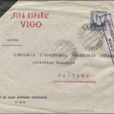 Sellos: 1936 VIGO A BASILEA.. Lote 205848108
