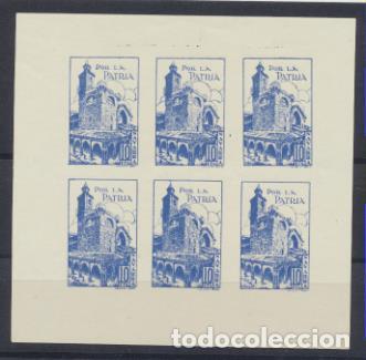 1937. NAVARRA. 10 CTS. POR LA PATRIA. HOJA DE SEIS. NUEVO SIN RESTO DE GOMA Y SIN SEÑAL DE FIJASELLO (Sellos - España - Guerra Civil - De 1.936 a 1.939 - Nuevos)