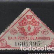 Sellos: CAJA POSTAL DE AHORROS,- 25 PTAS.- CORONA REPUBLICA- VER FOTO. Lote 206196508
