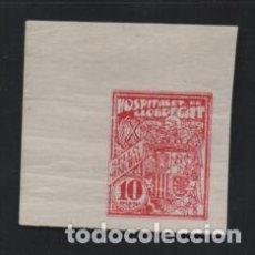 Sellos: HOSPITALET DE LLBREGAT, 10 PTAS-SIN DENTAR- SELLO MUNICIPAL-. Lote 206205363