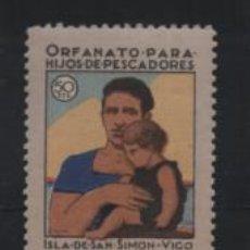 Sellos: ISLA DE DON SIMON- 50 CTS.-ORFANATO PARA HIJOS DE PESCADORES- VER FOTO. Lote 206205822