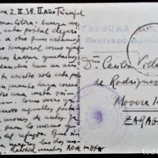 Sellos: ARAGÓN VALLE DE TENA SALLENT CANFRANC ARAÑONES HUESCA 1938 CENSURA MILITAR COMANDANCIA POSTAL. Lote 206246211