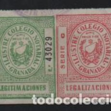 Sellos: GRANADA, LEGALIZACIONES,- PAREJA B Y C- DOS COLORES, VER FOTO. Lote 206287720