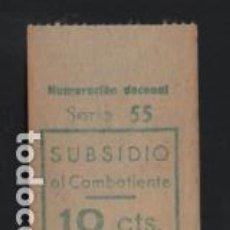 Sellos: BARCELONA, 10 CTS. SUBSIDIUO AL COMBATIENTE- VER FOTO. Lote 206287800
