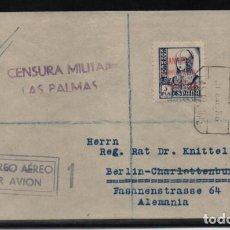 Sellos: CARTA CIRCULADA DE LAS PALMAS A ALEMANIA,- SELLO 1 PTA-CORREO AEREO-VER FOTOS. Lote 206289273