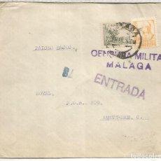 Sellos: GUERRA CIVIL CC MALAGA A HOLANDA 1939 CON CENSURA MILITAR. Lote 206366466