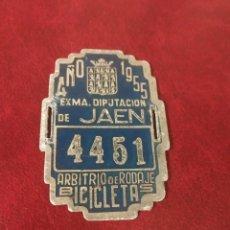 Selos: TASA DE RODAJE PARA BICICLETAS, DIPUTACION DE JAEN 1955.. Lote 52773334