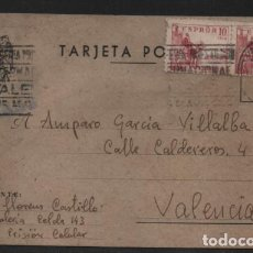 Sellos: POSTAL PRISION CELULAR, 2º GALERIA - CELDA 143, A VALENCIA- VER FOTOS. Lote 206495926