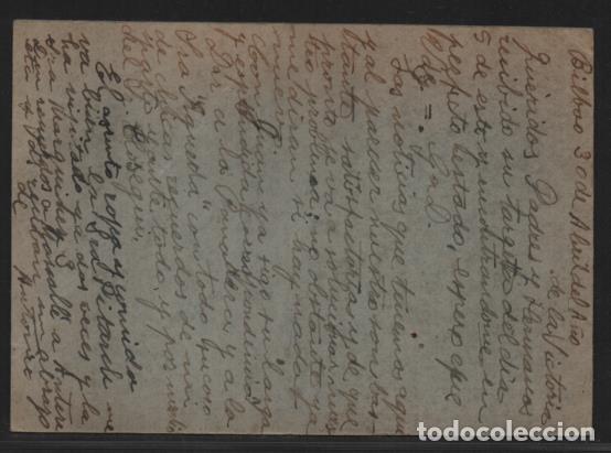 Sellos: POSTAL PRISIONES DE BILBAO- LA TABACALERA- BILBAO A BARCELONA- - Foto 3 - 206496052