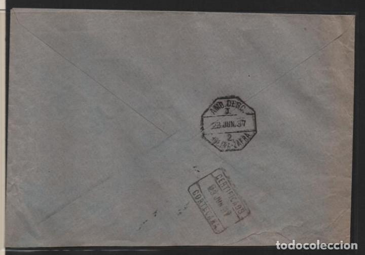 Sellos: CARTA DE ENCINASOLA A ARACENA- SELLO BENEFICENCIA ENCINASOLA- C.M. CORTEGANA- VER FOTOS - Foto 3 - 206496152