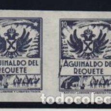 Sellos: VIÑETAS- PAREJA SIN DENTAR-AGUINALDO DEL REQUETE,- VER FOTO. Lote 206496400