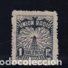 Sellos: VALENCIA,- 1 PTA- UNION RADIO-- VER FOTO. Lote 206496508